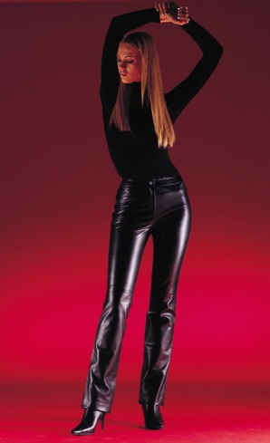 Femme pantalon cuir